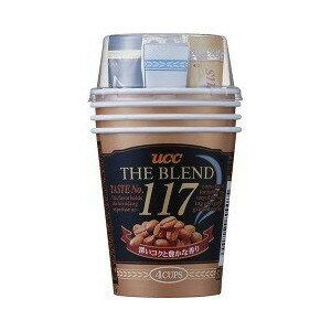 UCC隨身杯咖啡 117咖啡-4杯入  (黑咖啡x4+鮮奶油粉x4+糖x4+攪拌棒x4+紙杯x4)