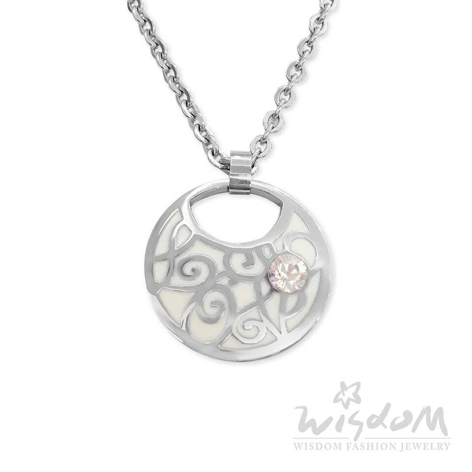 威世登時尚珠寶-唯一白琺瑯白鋼套鍊 優雅甜美 禮物推薦 ZNB00052-BBHX