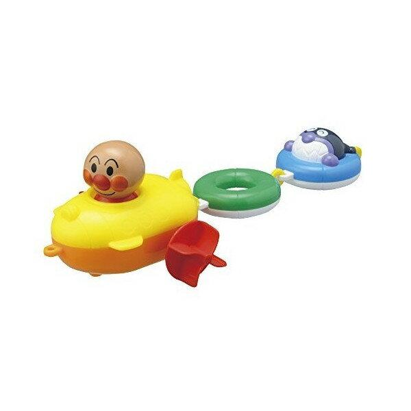 【真愛日本】16080200010拖曳船洗澡玩具-ANP   電視卡通 麵包超人 細菌人 兒童玩具 正品 限量