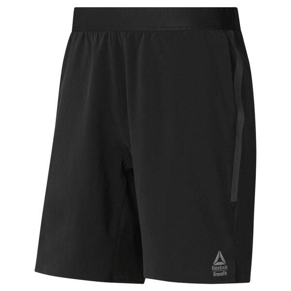 REEBOKCROSSFITSPEEDSHORT男裝短褲8吋休閒慢跑彈性舒適黑【運動世界】CY4949