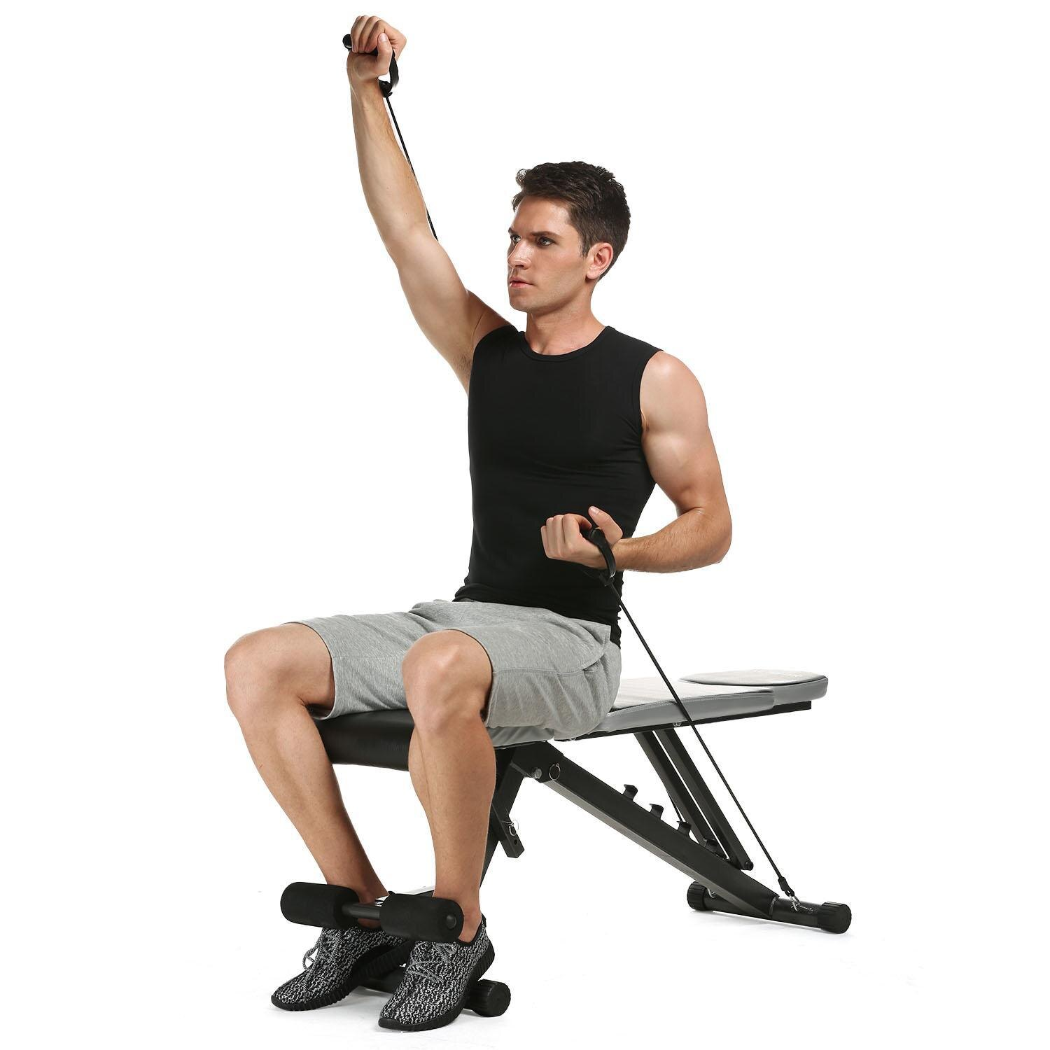 Foldable Adjustable Sit Up Abdominal Bench 2