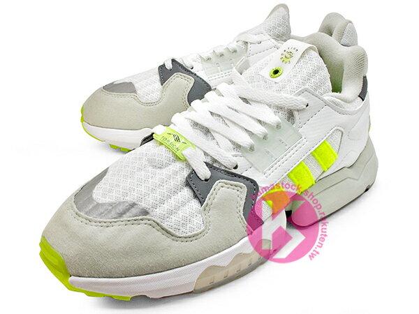 [20% OFF] 2019 限量發售 英國知名鞋舖 FOOTPATROL x adidas Consortium ZX TORSION FP 灰白螢光黃 內藏 BOOST 緩震科技 (EF7681) ! 1
