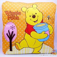 夏日寢具 | 涼感枕頭/涼蓆/涼被/涼墊到【UNIPRO】糖罐 小熊維尼 Winnie the Pooh 48X48cm 涼感方枕 四方枕 靠枕 大抱枕 維尼