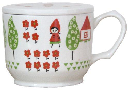 X射線【C770527】加藤真治-小紅帽馬克杯附蓋,陶瓷杯/水杯/玻璃杯/茶杯/咖啡杯/交換禮物