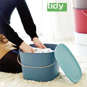 tidy時尚簡約收納桶(藍綠色) 0