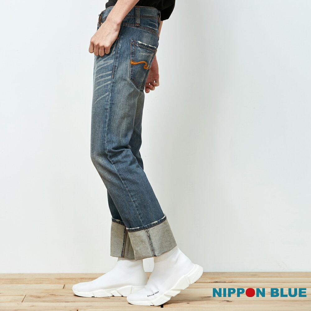 【5折限定】空新海浪低腰直筒褲 - BLUE WAY  ONIARAI鬼洗 2