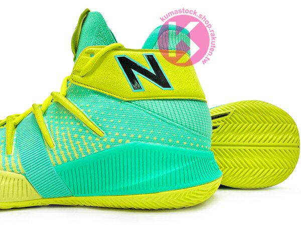 2019 最新 NBA 總冠軍 Kawhi Leonard 強力代言 NEW BALANCE OMN1S 綠黃 全腳掌的 FUELCELL 緩震科技 MVP 籃球鞋 紐巴倫 小可愛 (BBOMNXSN) 1219NBA 3
