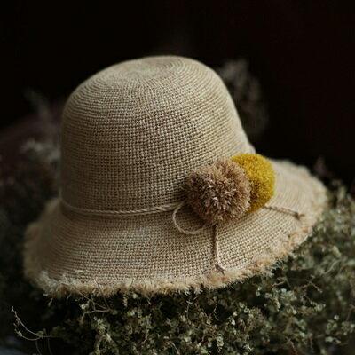 草帽手工編織漁夫帽-春夏時尚新款渡假女遮陽帽73si12【獨家進口】【米蘭精品】