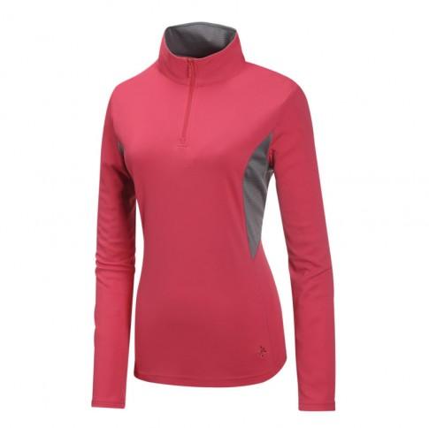 【【蘋果戶外】】山林 21P32-36 深玫紅 Mountneer 女 透氣排汗長袖上衣 吸濕排汗衣 防曬 抗UV 彈性