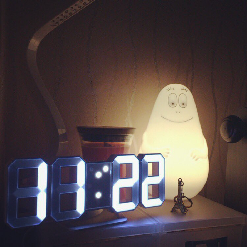 3D立體數字時鐘 立體電子時鐘 時尚工業風 可壁掛 科技電子鐘 數字鐘 電子鬧鐘 掛鐘 LED【RS752】