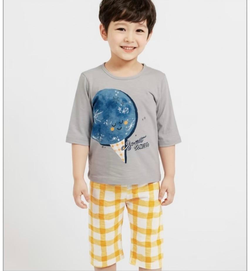 (預購)正韓國純棉 Mellisse兒童居家服春夏款(七分袖)90-150cm 芒果姐姐童裝屋