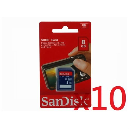 WholeSale 10 piece SanDisk 8GB SD 8G SDHC Class 4 C4 Secure Digital High Capacity Flash Memory Card SDSDB-008G 0