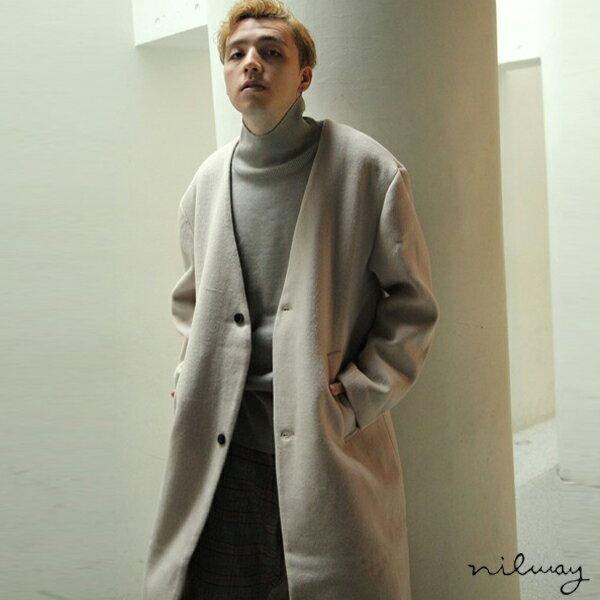 【Nilway】無領羊毛大衣 0
