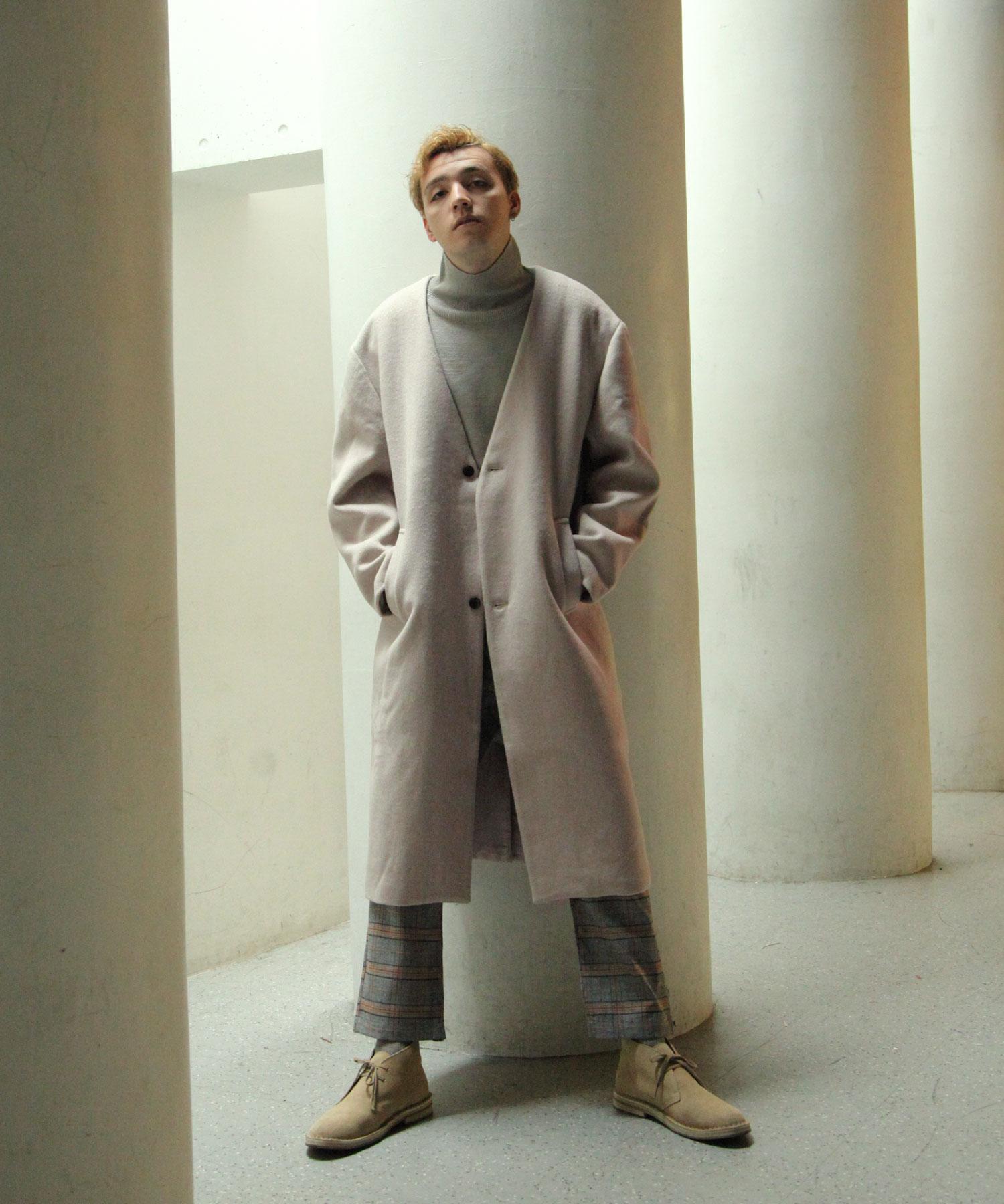 【Nilway】無領羊毛大衣 5