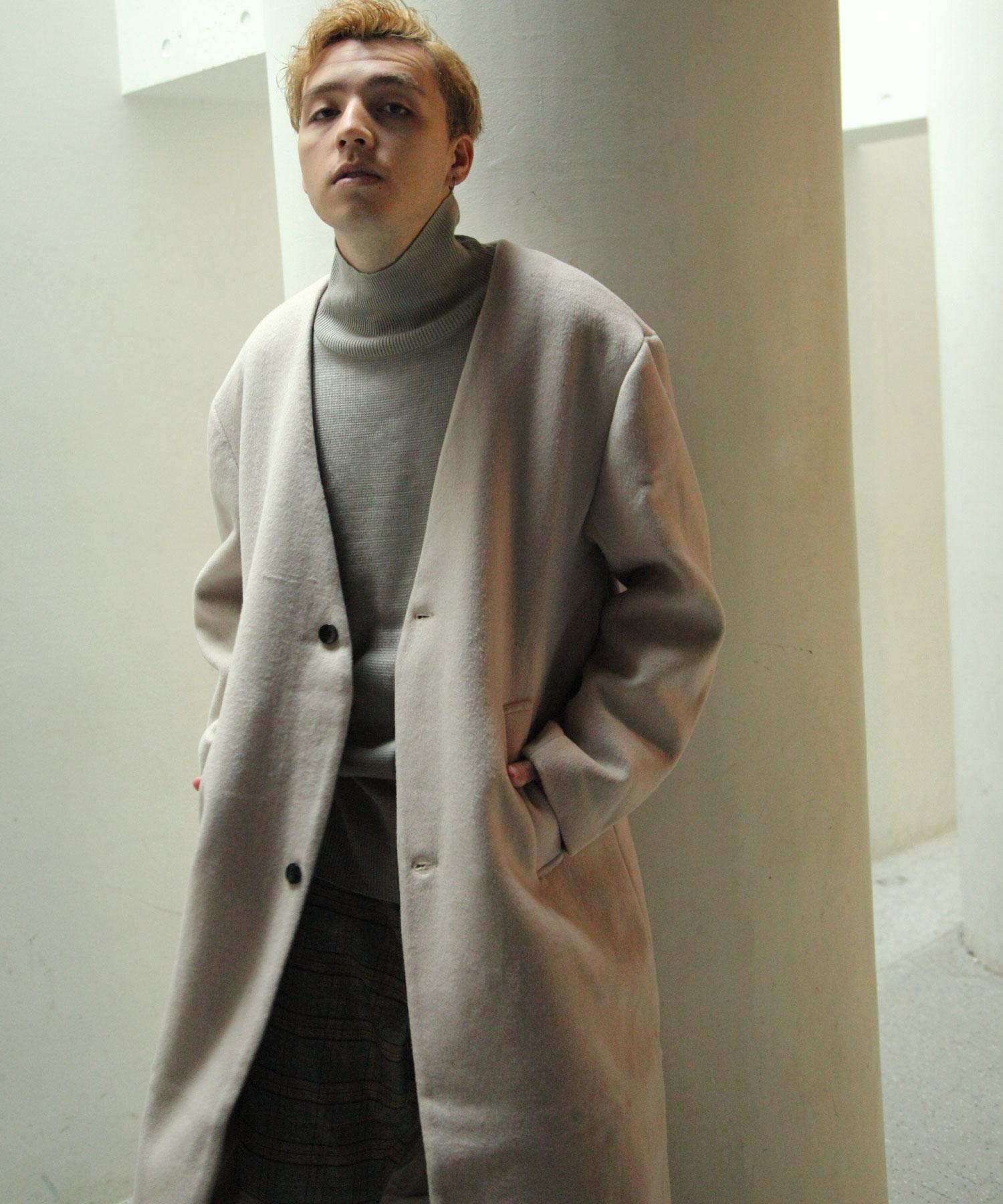 【Nilway】無領羊毛大衣 7