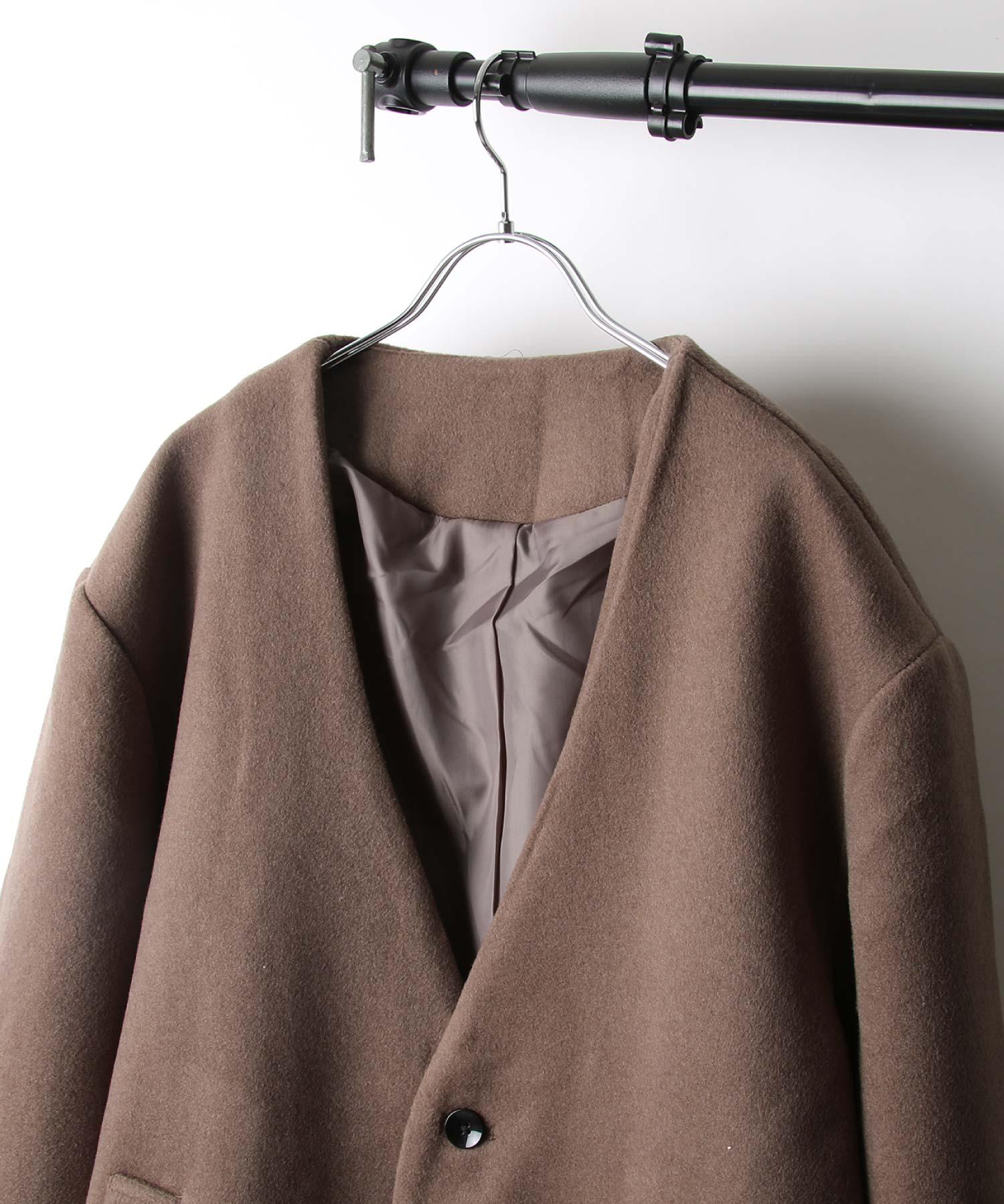 【Nilway】無領羊毛大衣 4