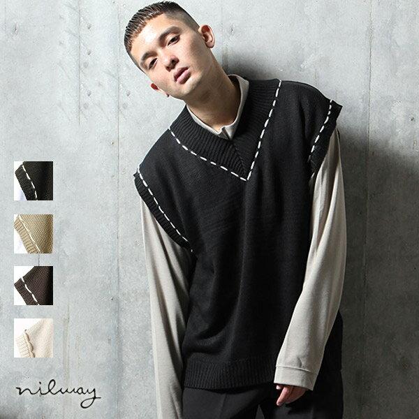 【Nilway】V領針織背心 0
