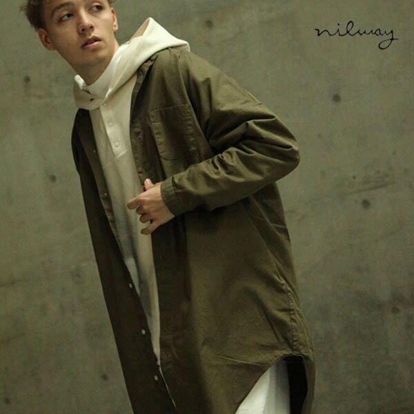 【Nilway】無領襯衫大衣  純棉 0