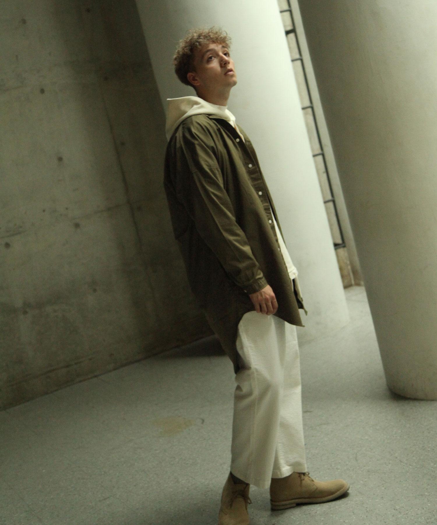 【Nilway】無領襯衫大衣  純棉 5