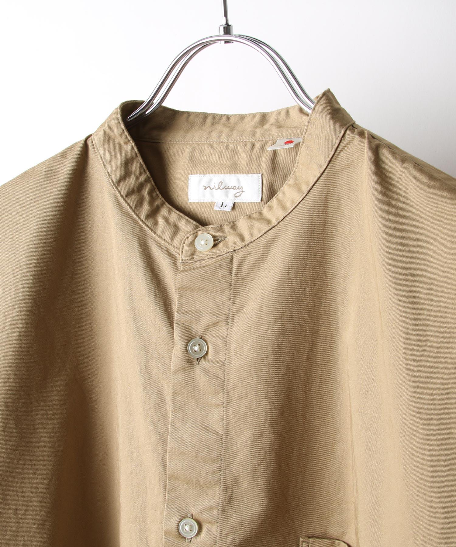 【Nilway】無領襯衫大衣  純棉 4