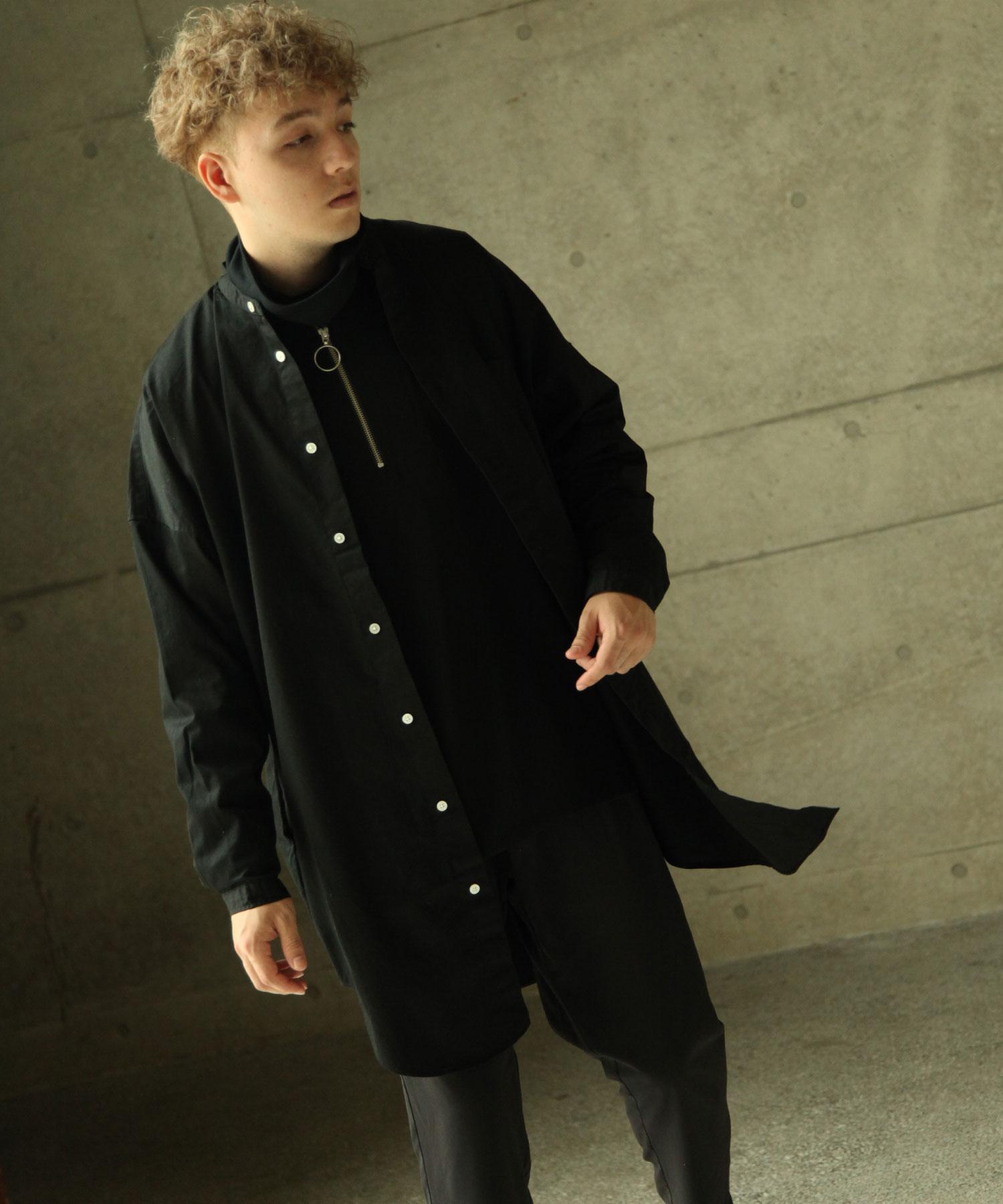 【Nilway】無領襯衫大衣  純棉 1