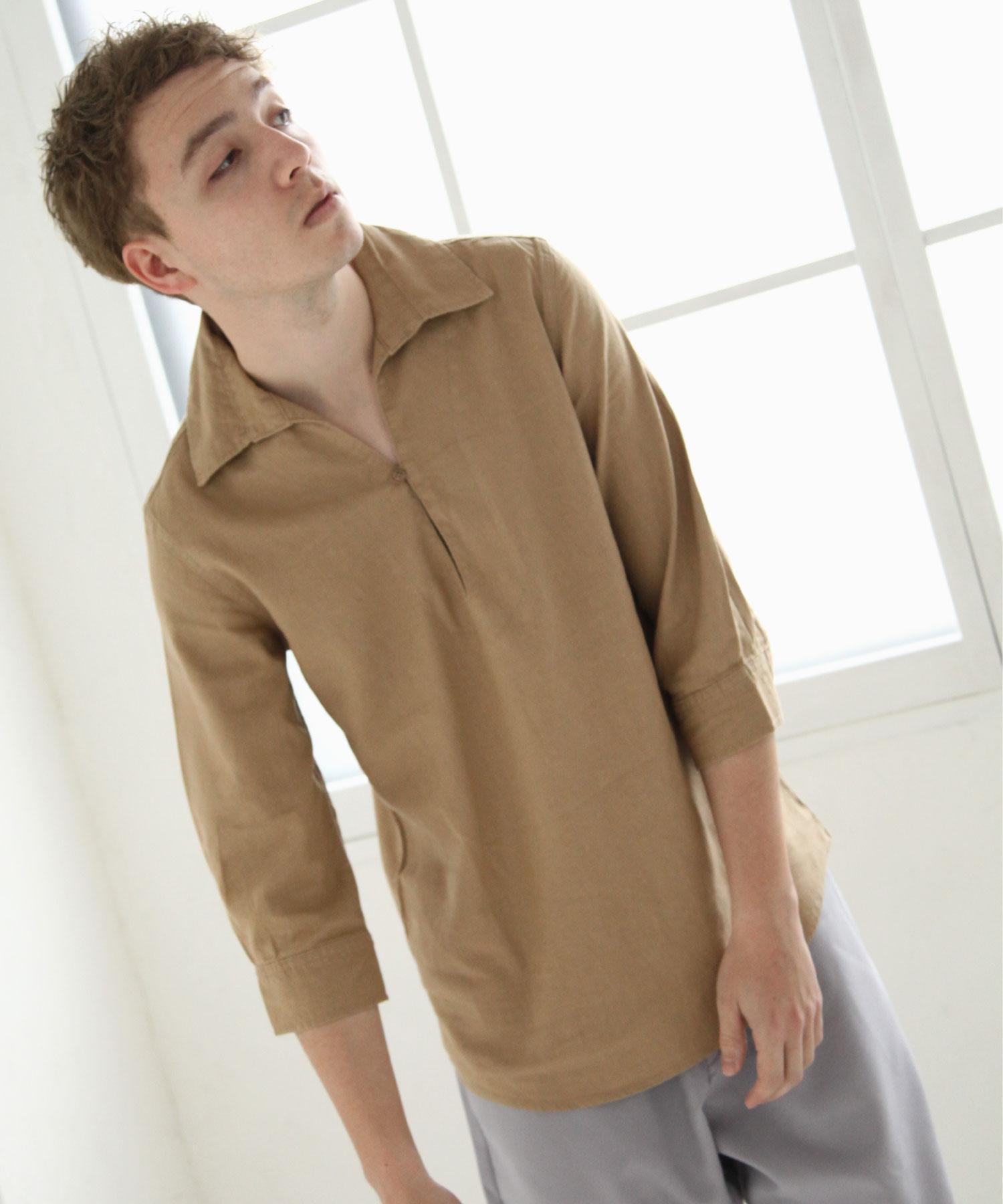 【Nilway】七分袖棉麻套頭衫 4