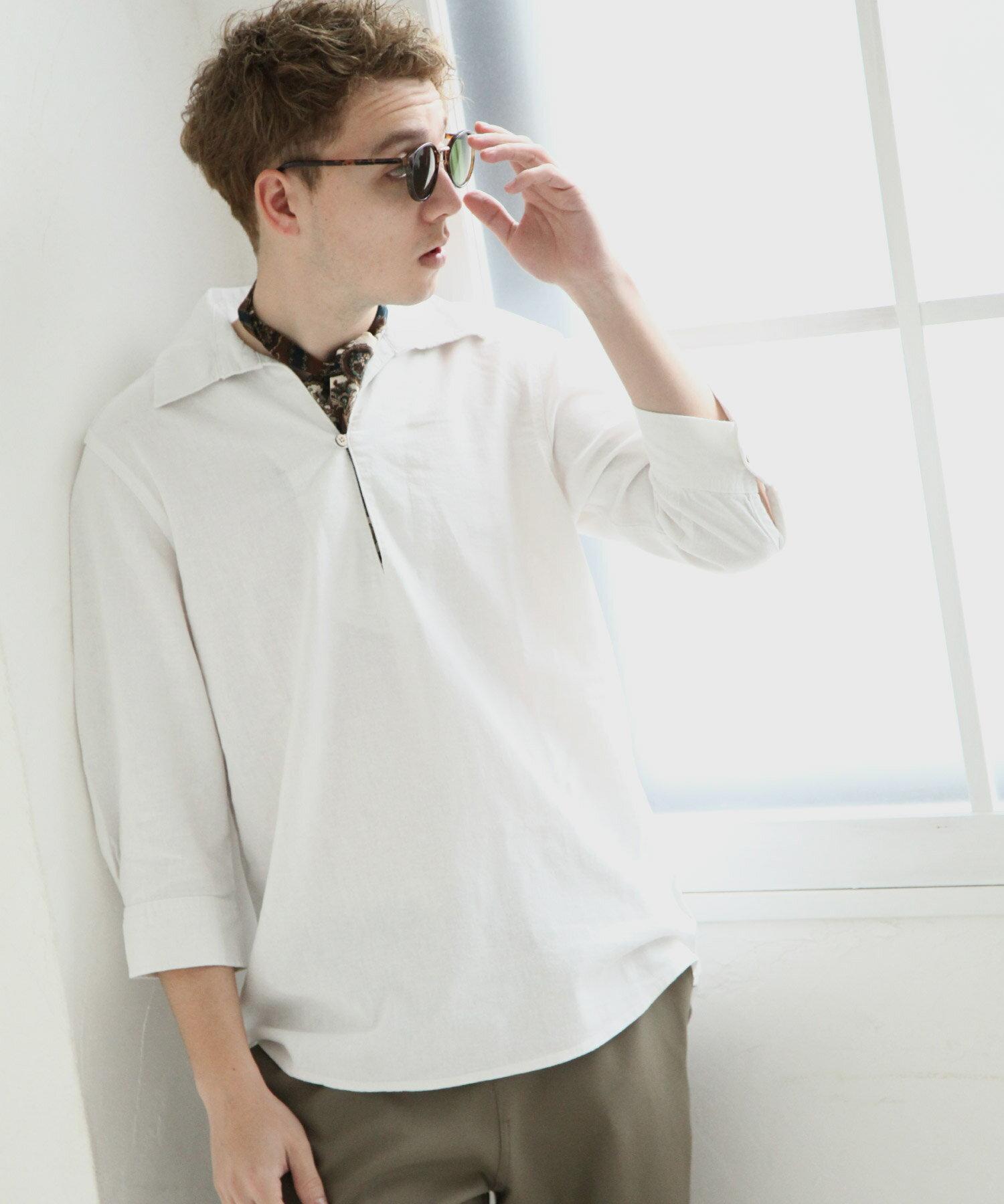 【Nilway】七分袖棉麻套頭衫 3