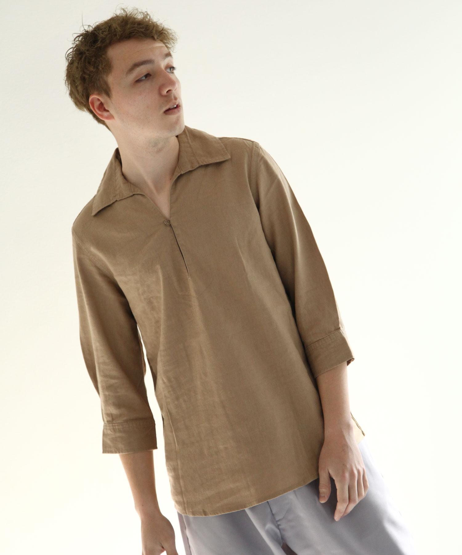 【Nilway】七分袖棉麻套頭衫 6