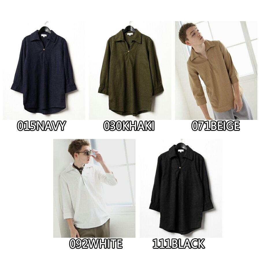 【Nilway】七分袖棉麻套頭衫 8