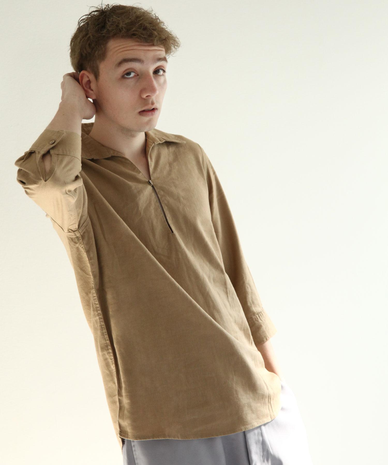 【Nilway】七分袖棉麻套頭衫 1