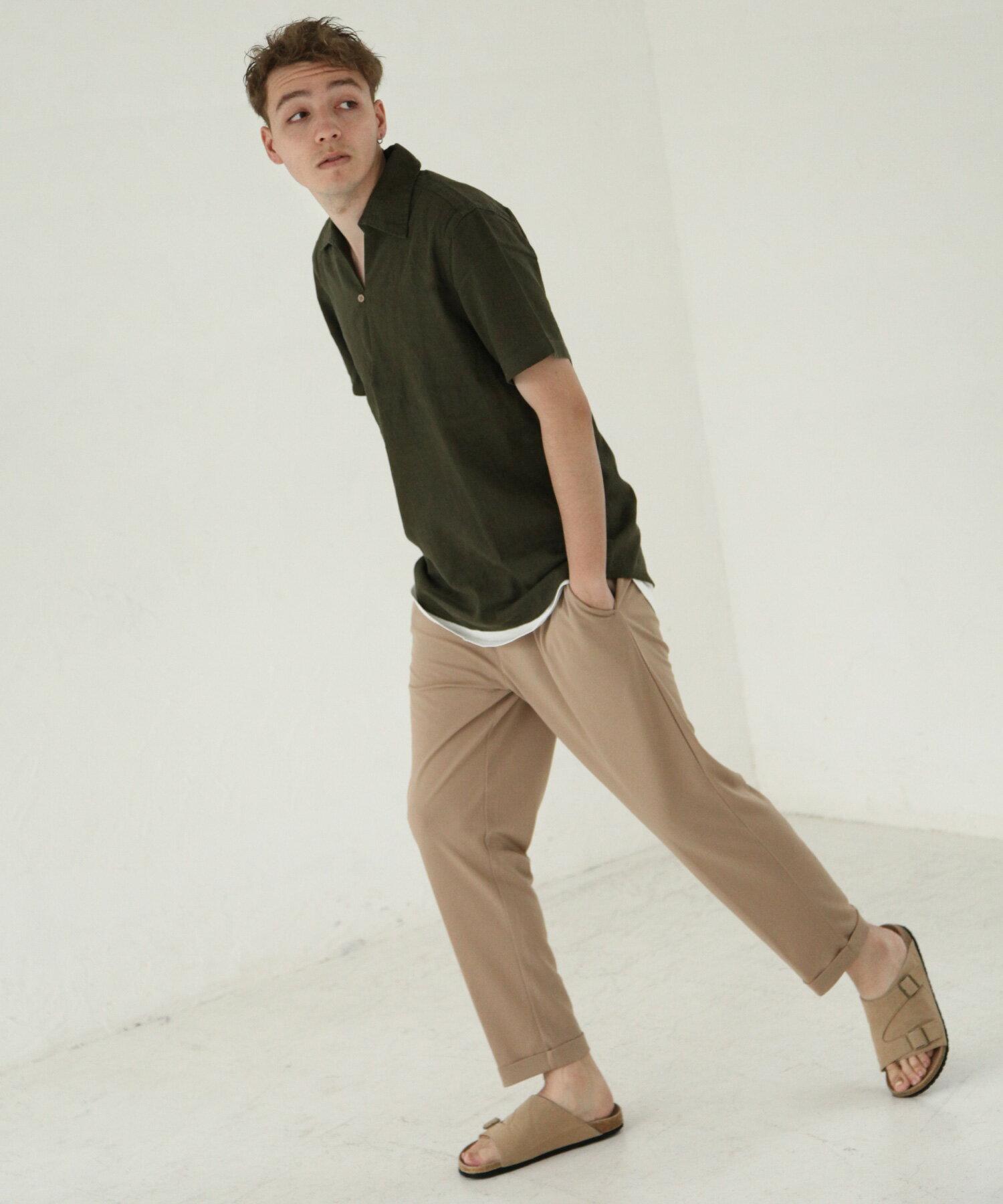 【Nilway】短袖棉麻套頭衫 3