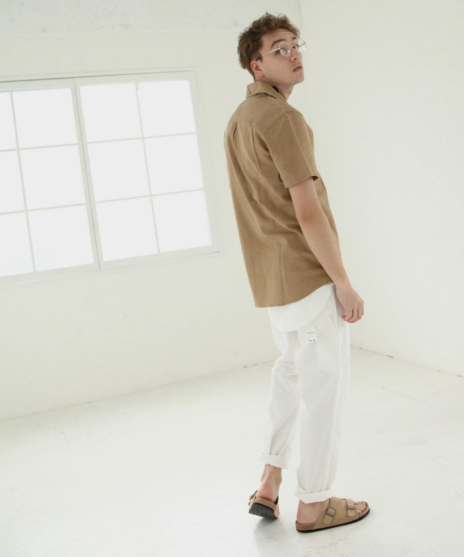 【Nilway】短袖棉麻套頭衫 4