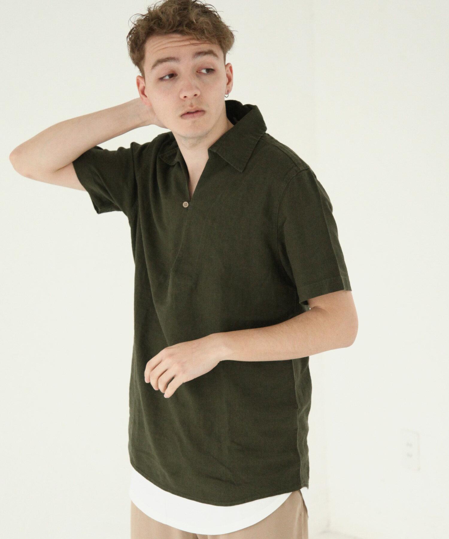 【Nilway】短袖棉麻套頭衫 1