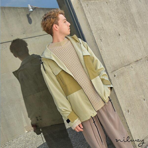 【Nilway】異素材拼接登山夾克 0