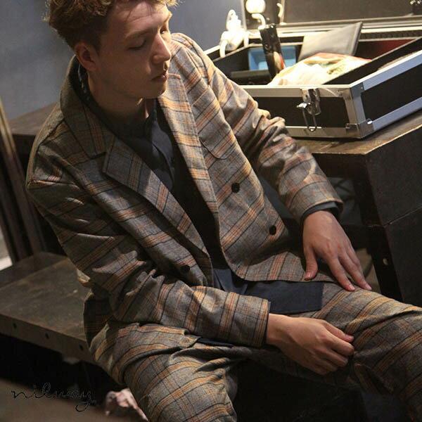 【Nilway】經典格紋西裝夾克 0