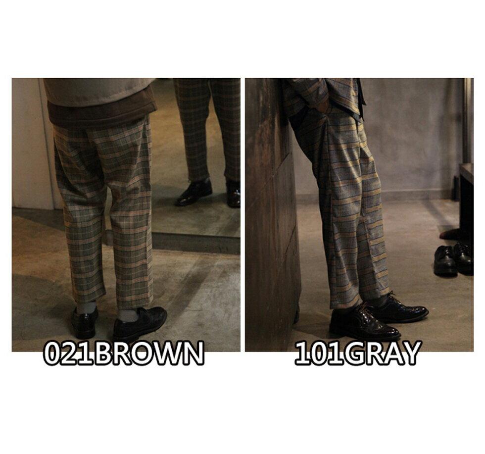 【Nilway】經典格紋錐形褲 西裝褲 2