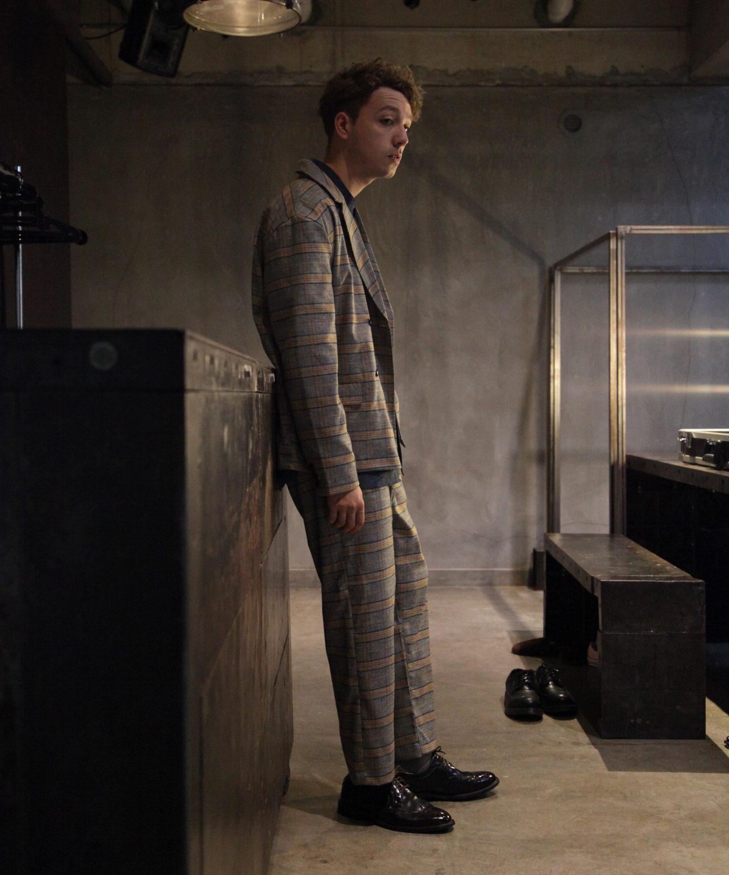 【Nilway】經典格紋錐形褲 西裝褲 5