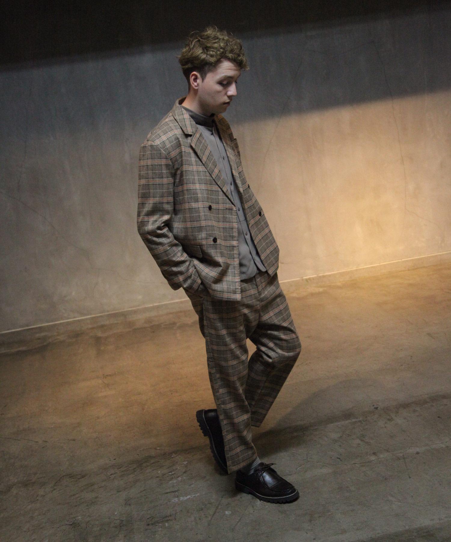 【Nilway】經典格紋錐形褲 西裝褲 1