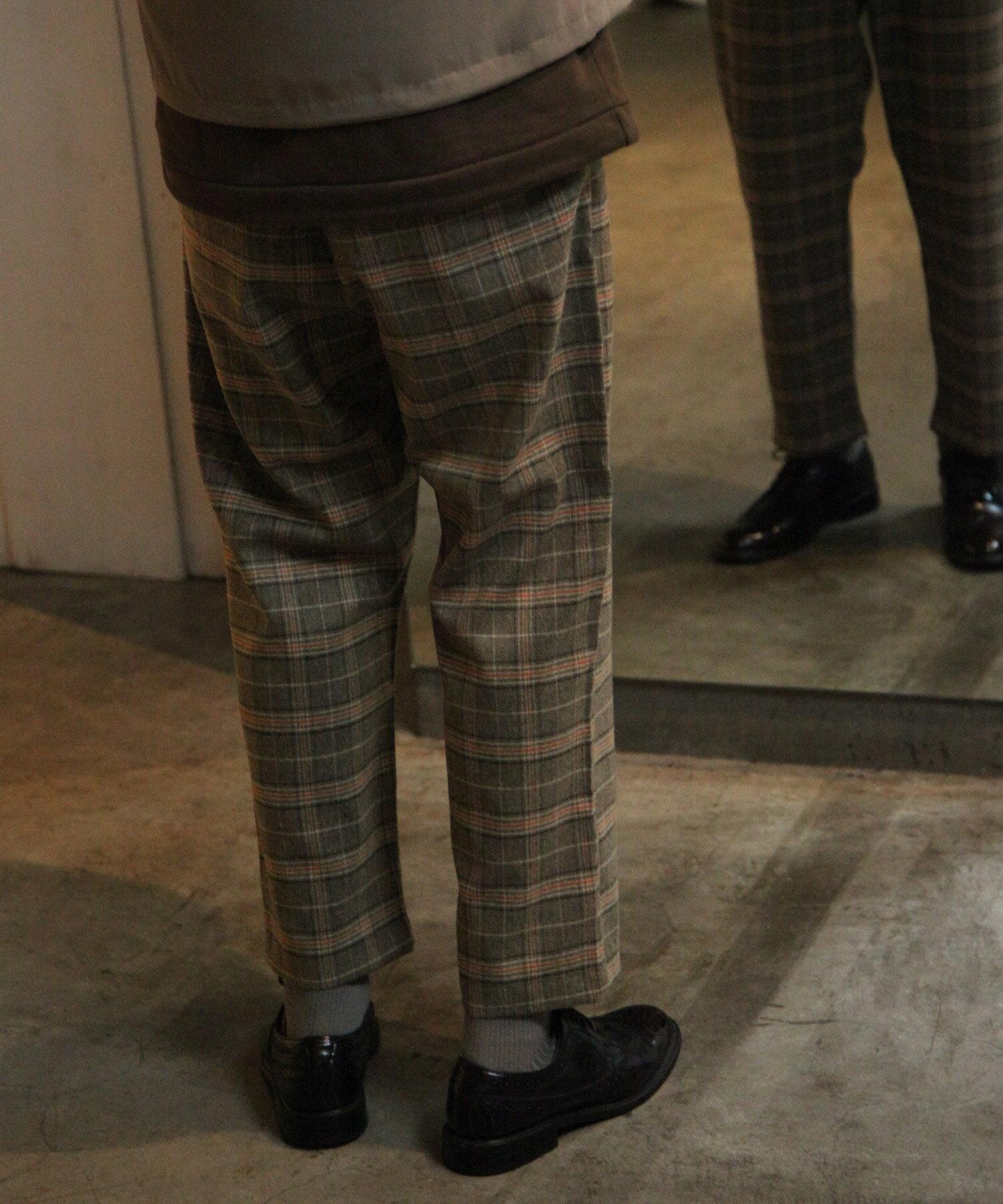 【Nilway】經典格紋錐形褲 西裝褲 6