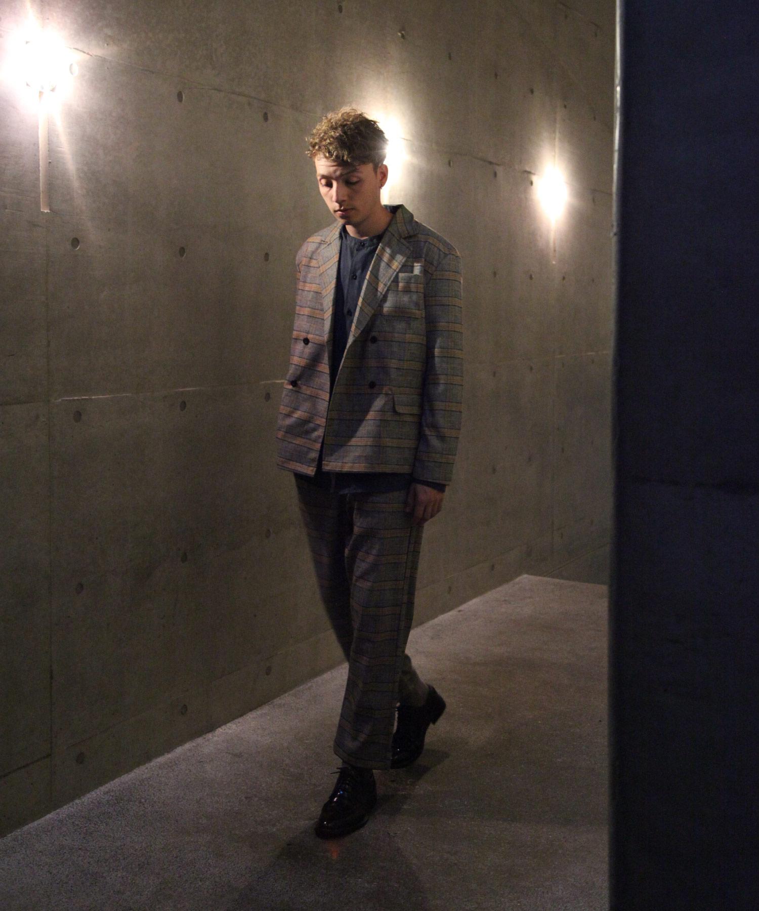 【Nilway】經典格紋錐形褲 西裝褲 7