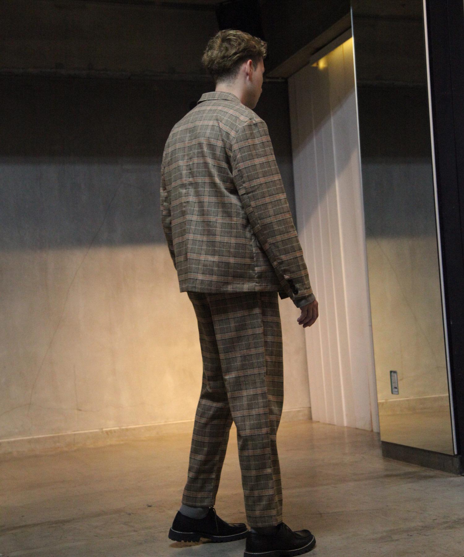 【Nilway】經典格紋錐形褲 西裝褲 8