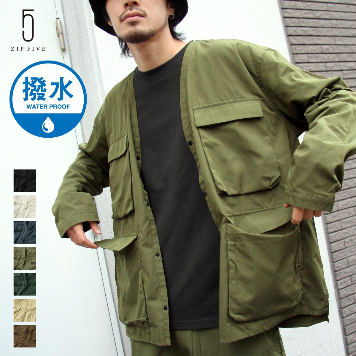 【New】無領工裝夾克 0