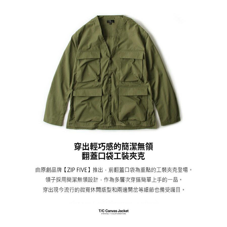 【New】無領工裝夾克 5