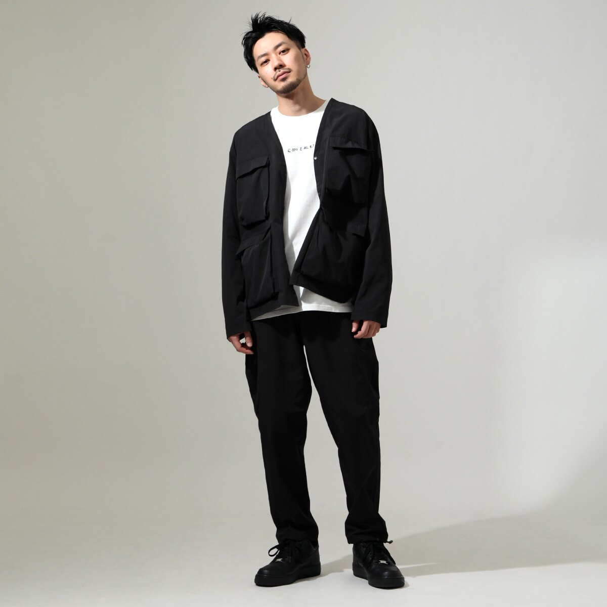 【New】無領工裝夾克 6