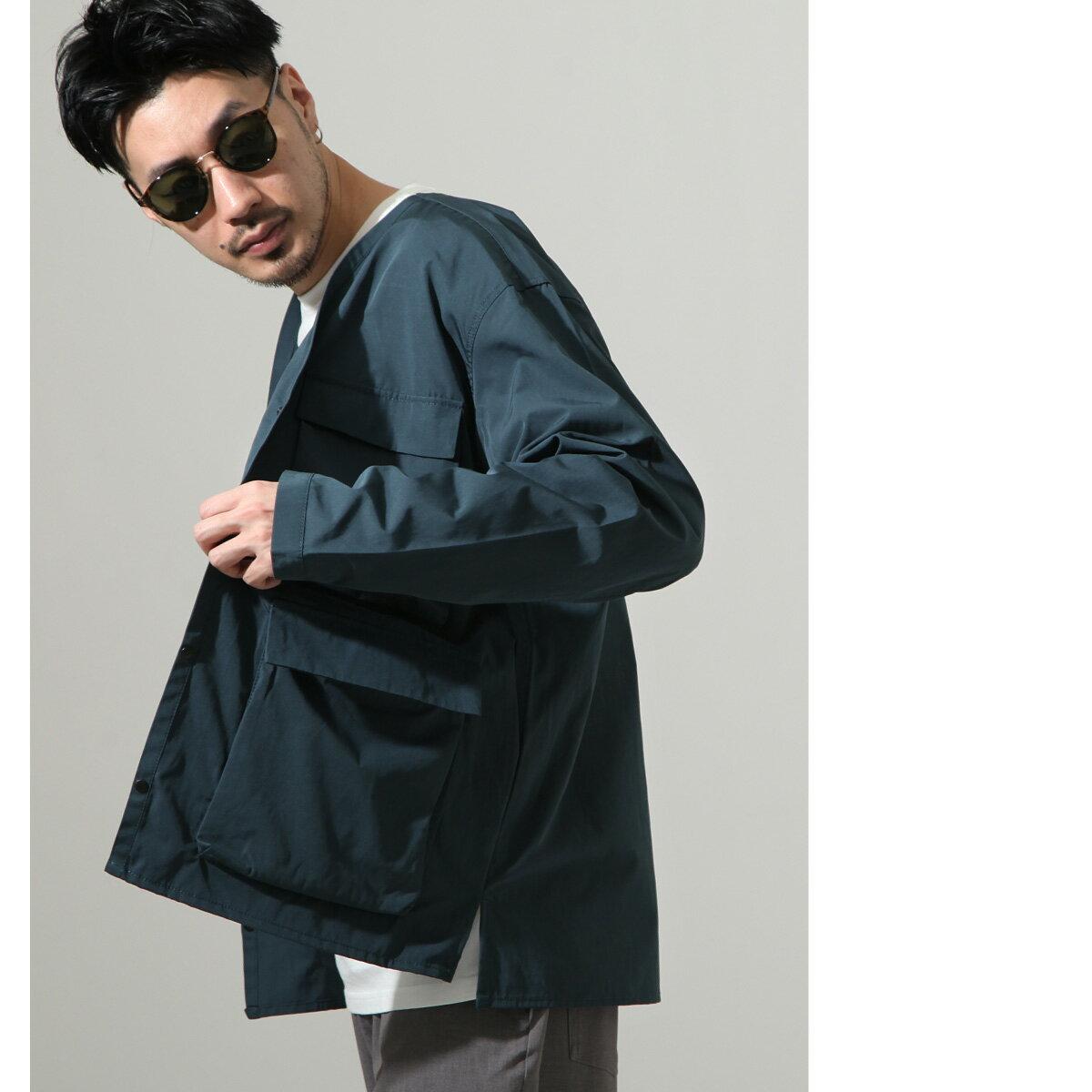 【New】無領工裝夾克 8