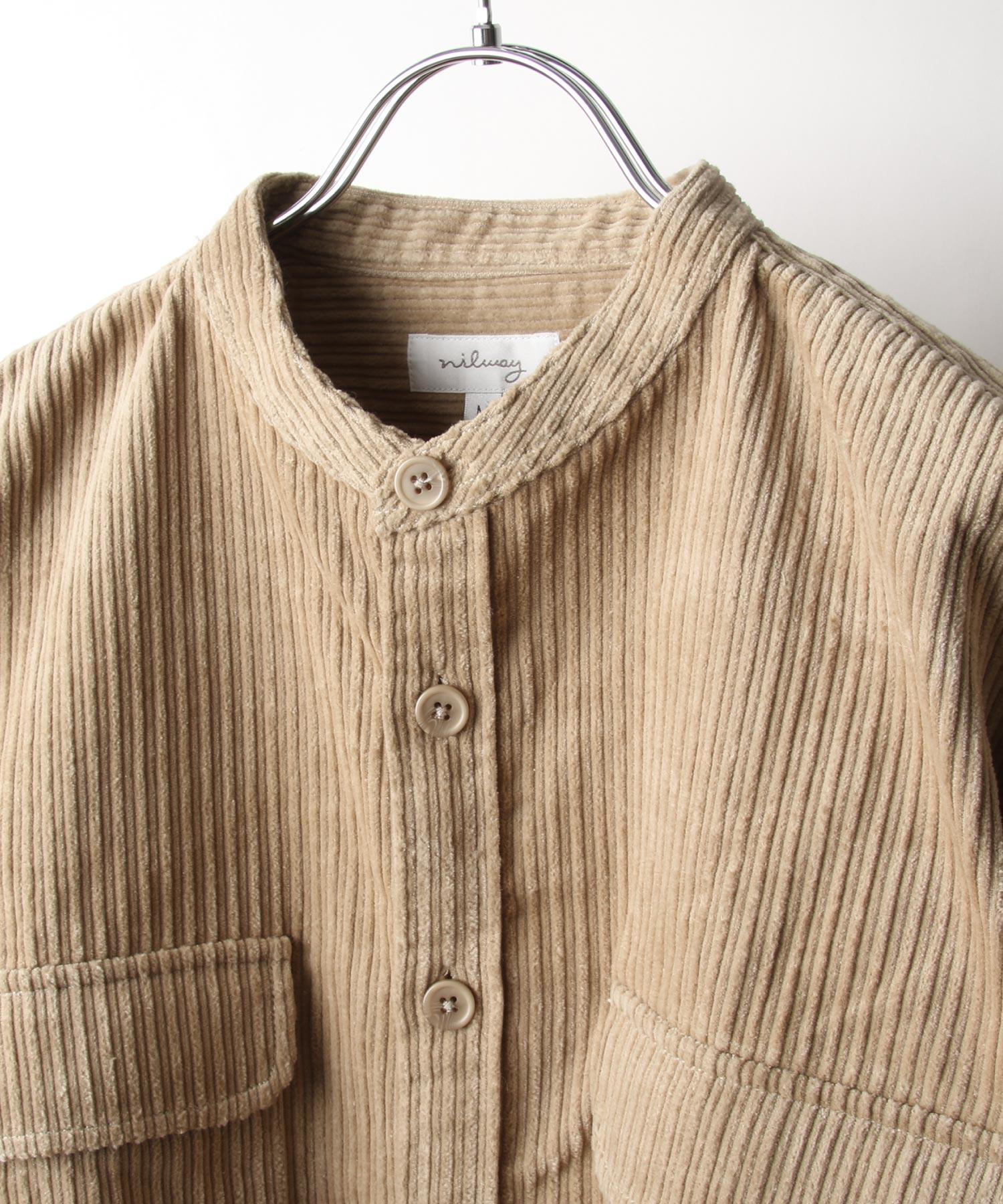 【Nilway】長袖襯衫 燈芯絨 4