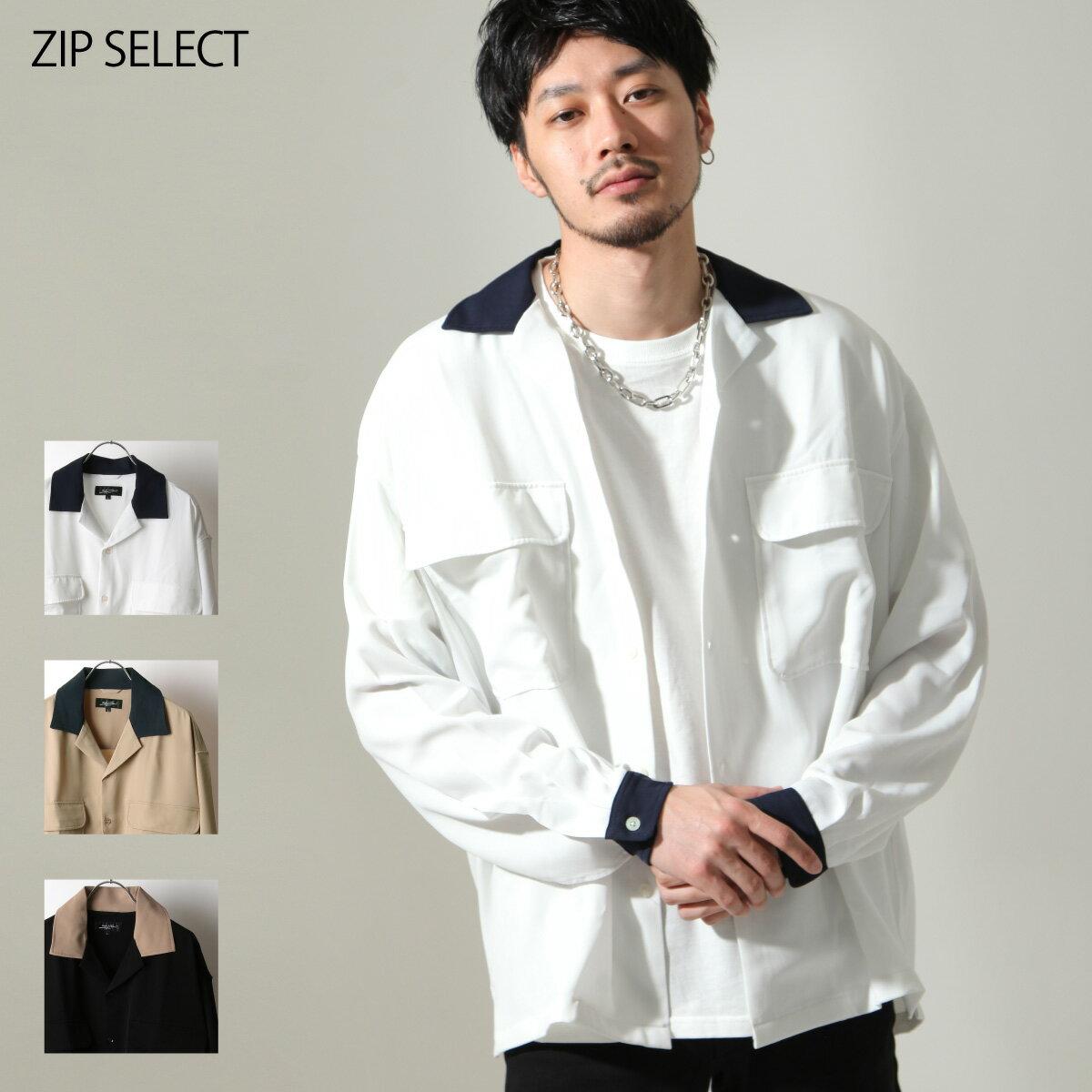 【New】ZIP 開領牧師襯衫 寬版 0