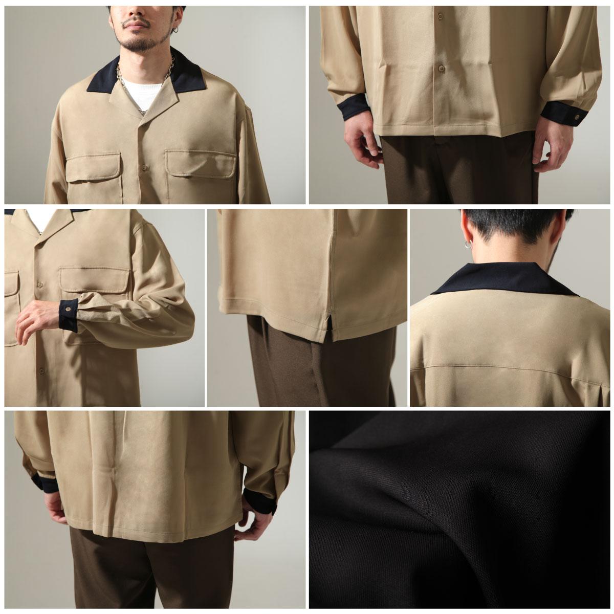 【New】ZIP 開領牧師襯衫 寬版 3