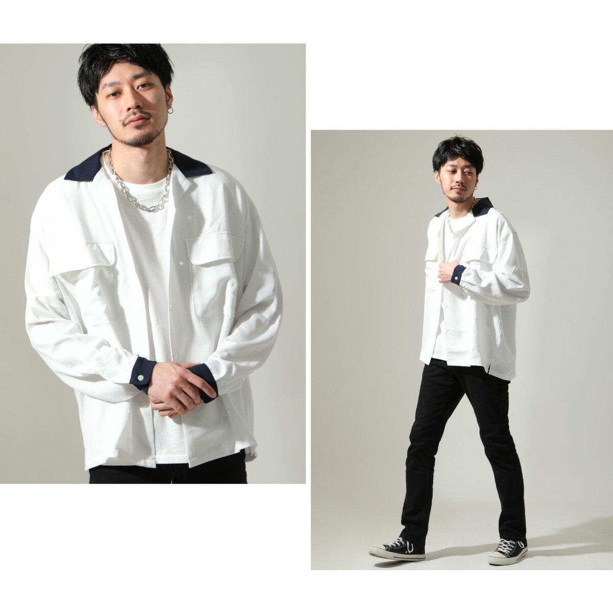 【New】ZIP 開領牧師襯衫 寬版 4