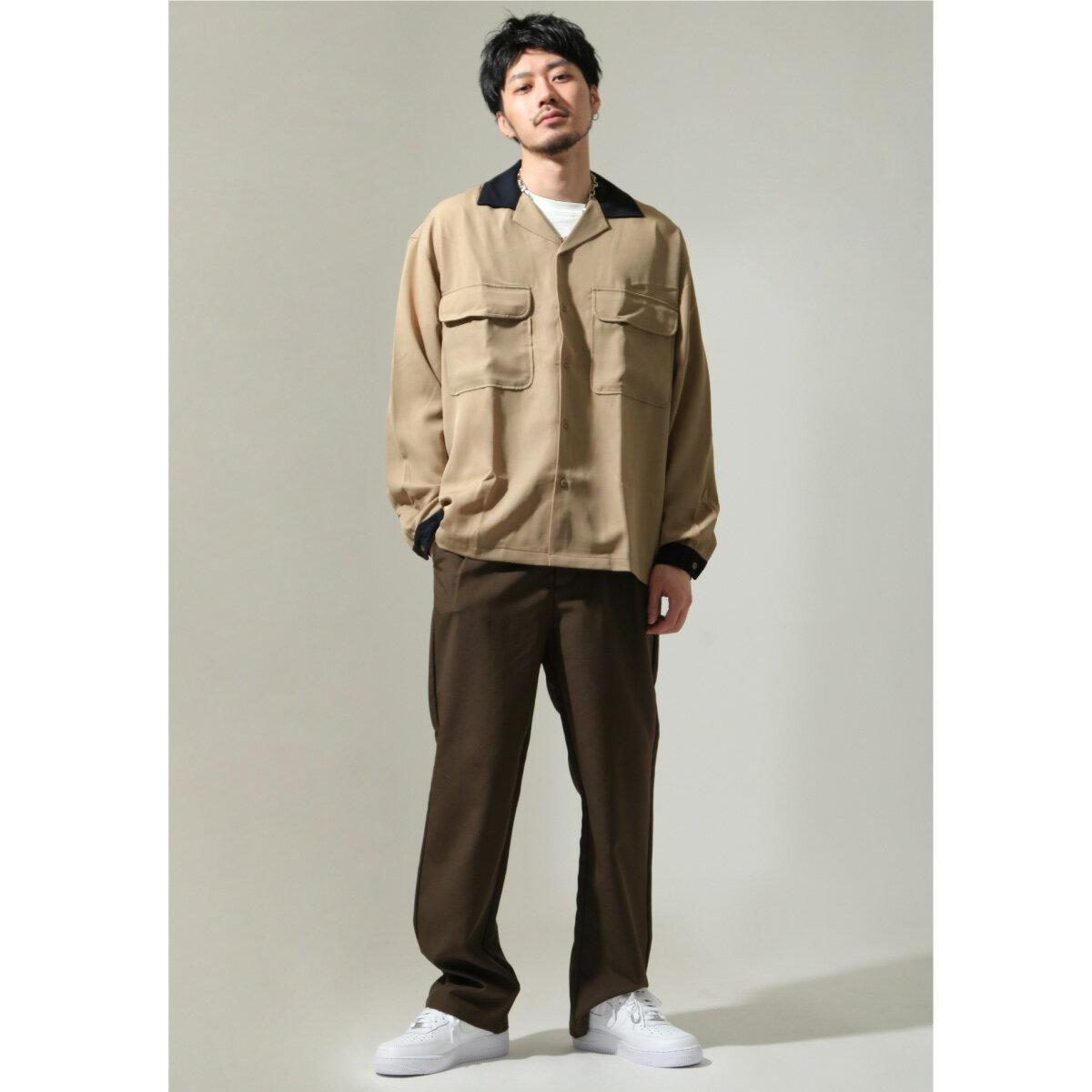 【New】ZIP 開領牧師襯衫 寬版 5